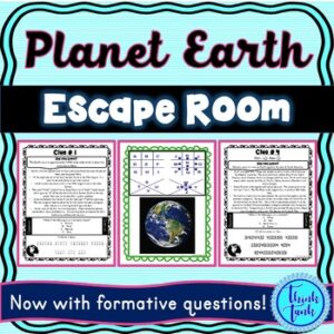 Earth ESCAPE ROOM! – Earth Science – planets – NO PREP, PRINT & GO!