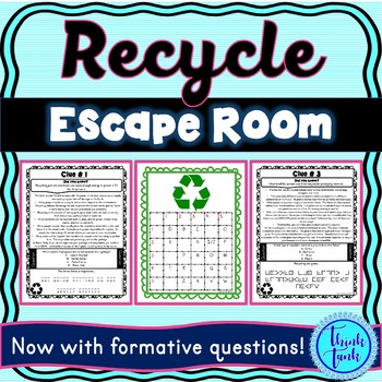 Recycling ESCAPE ROOM – Perfect for Earth Day! Reduce, Reuse, Recycle