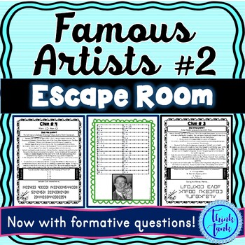 Famous Artists ESCAPE ROOM #2: Michelangelo, Degas, Dali, Warhol – Print & Go!