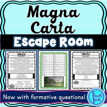 Magna Carta ESCAPE ROOM: England and Nobles