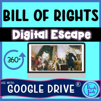 Bill of Rights DIGITAL ESCAPE ROOM for Google Drive® – Amendments 1-10