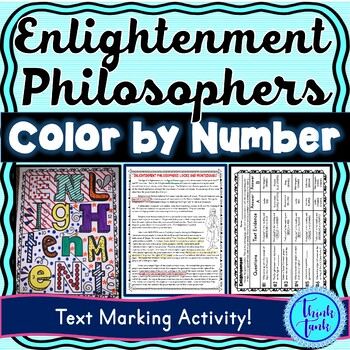 Enlightenment Color by Number and Text Marking : Locke and Montesqueiu