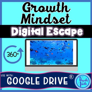 Growth Mindset DIGITAL ESCAPE ROOM for Google Drive®