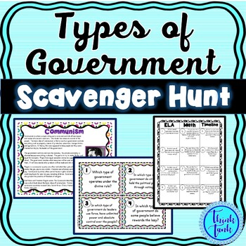 Types of Government Scavenger Hunt – Forms of Government