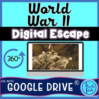 World War II DIGITAL ESCAPE ROOM for Google Drive®