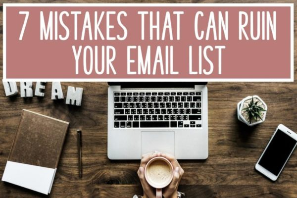 7 mistakes email list