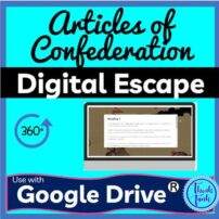 Articles of Confederation Classroom Educational Activity