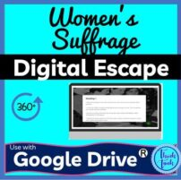 Women's Suffrage DIGITAL ESCAPE ROOM for Google Drive® | Voting Rights Cover