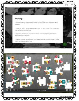 Women's Suffrage DIGITAL ESCAPE ROOM for Google Drive® | Voting Rights pic 1