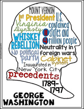 Presidents Day Word Cloud Learning Activity