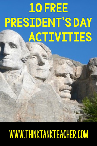 Presidents day activities Educational Classroom