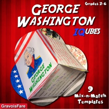George Washington IQubes learning activity for classroom