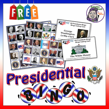Presidents Day Bingo for Education in Classroom