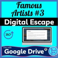 Famous Artist 3 Digital escape room cover