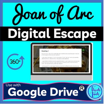 Joan of Arc Digital Escape Room Picture