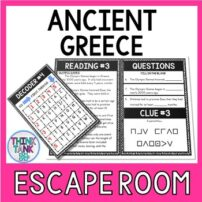 Ancient Greece Escape Room Activity Picture