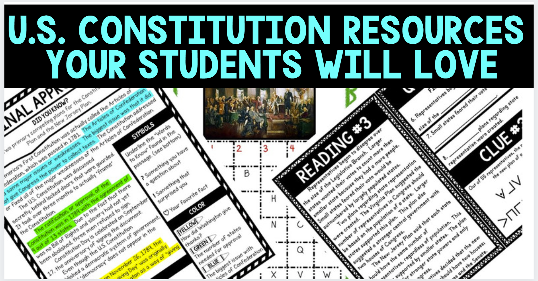 us constitution resources blog cover pic