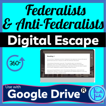 Federalists and Anti-Federalists Digital Escape Room pic
