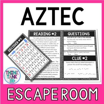 Aztec Escape Room Activity picture