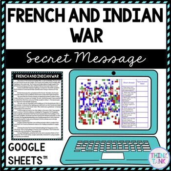 French and Indian War Secret Message Activity picture