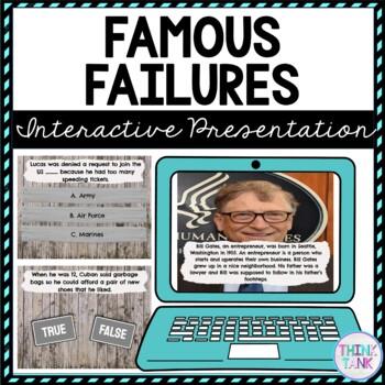 Famous Failure Interactive Google Slides™ Presentation | Growth Mindset