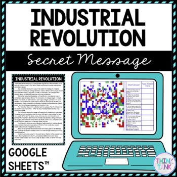 Industrial Revolution Secret Message Activity for Google Sheets™