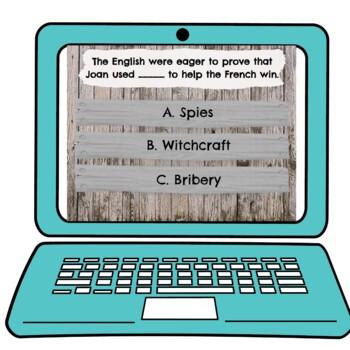 Joan of Arc Interactive Google Slides™ Presentation   Distance Learning
