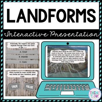 Landforms Interactive Google Slides™ Presentation | Distance Learning