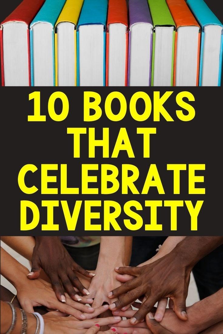 ten books that Celebrate diversity pin picture