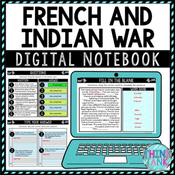 French and Indian War DIGITAL Interactive Notebook